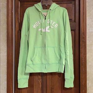Green zip up from Hollister